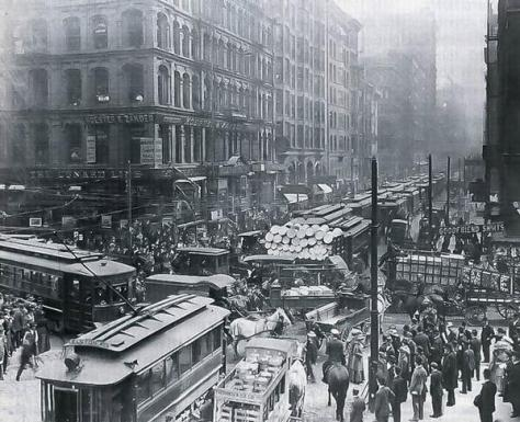 Hora de ponta Chicago, 1909, History in Pictures