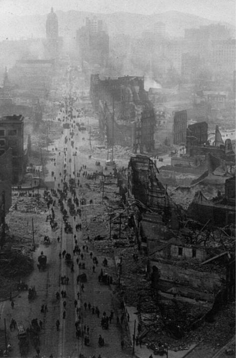 Market Street, San Francisco after the earthquake, 1906. Historical Pics.