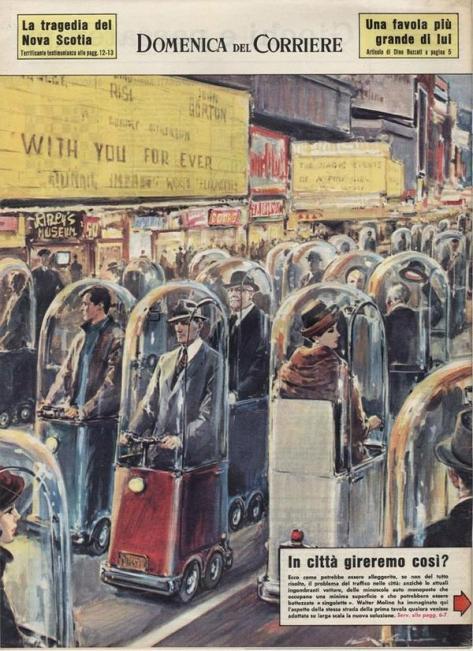 Retro Futuristic Transportation, 1962. Classic Pics.