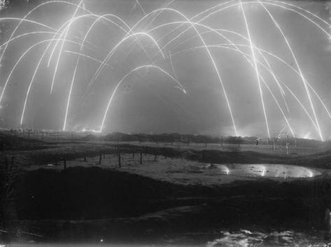 Trench Warfare. Photo taken by an official British photographer during WWI, 1917. Classic Pics.