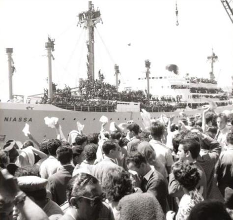 Embarque no Niassa para a Guerra Colonial. 1971