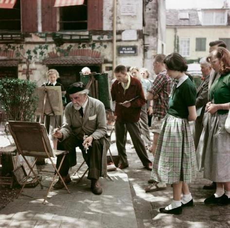 Montmartre, Paris, 1952 - Photo by Robert Capa. Classic Pics.