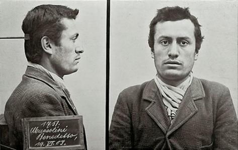 Young Benito Mussolini mugshot, 1903. History in Pictures.