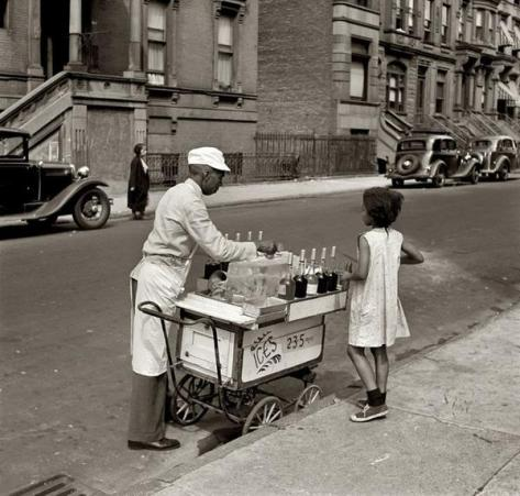 Ices - 2, 3, 5 cents. New York. Summer, 1938. History in Pictures.