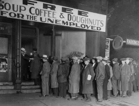 Men in line at Al Capone's soup kitchen, Chicago, 1930. History in Pictures.