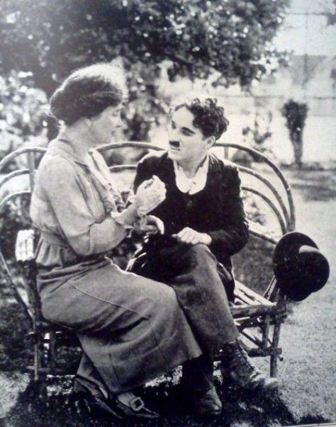 Helen Keller & Charlie Chaplin, 1919. Classic Pics.