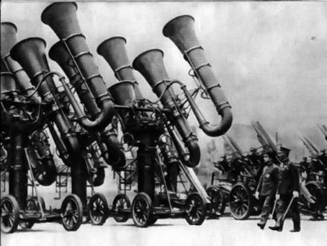 Japanese War Tubas. What they used before radar, Circa 1930. Classic Pics.