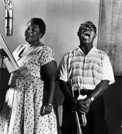 Ella Fitzgerald and Louis Armstrong. Classic Pics.