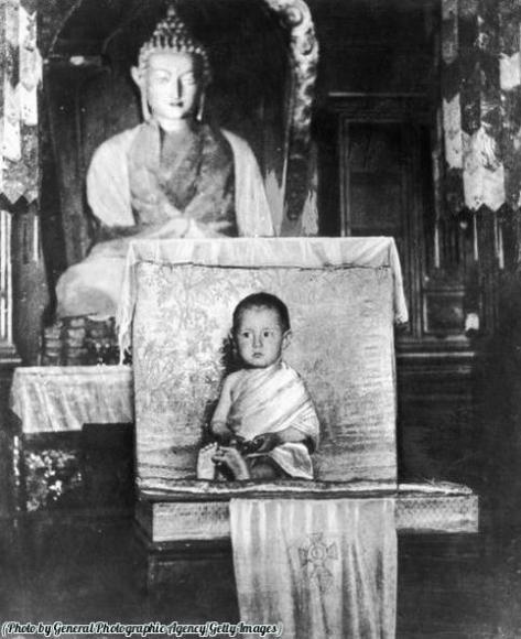 The Dalai Lama at age two, 1937. Classic Pics.