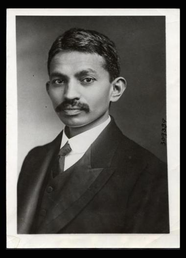 Gandhi as a young lawyer, 1921. Classic Pics.