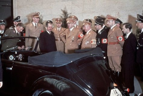 Hitler gets a VW for his 50th birthday, 1939. History in Pictures.