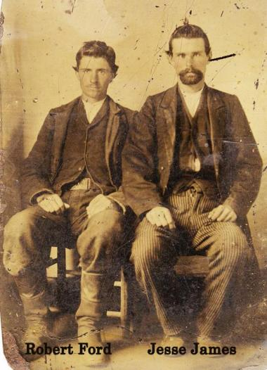Jesse James & Robert Ford, circa 1880s. History in Pictures.