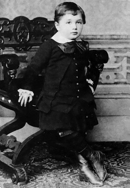 3 year old Albert Einstein, 1882. Classic Pics.
