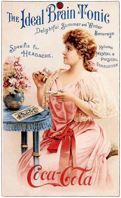 Coke Ad from the 1890s. Classic Pics.