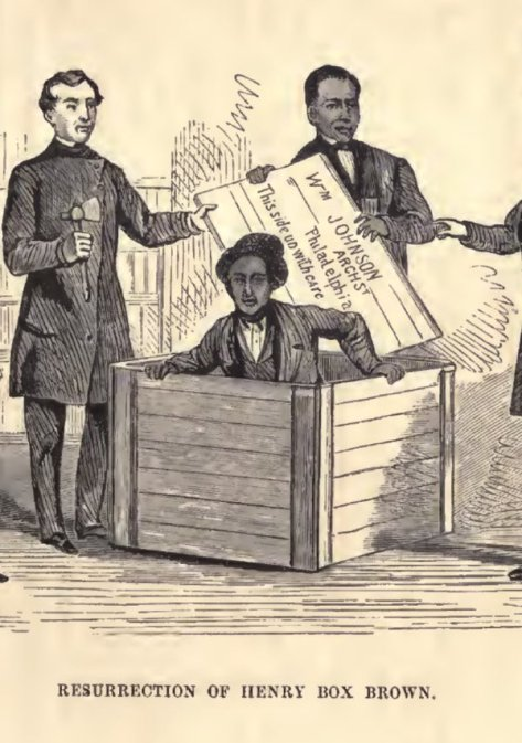 In 1849 a slave named Henry .Box. Brown successfully shipped himself to a state where slavery was abolished.  Historical Pics.