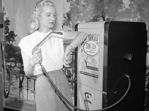 Máquina de bronzear, 1949.