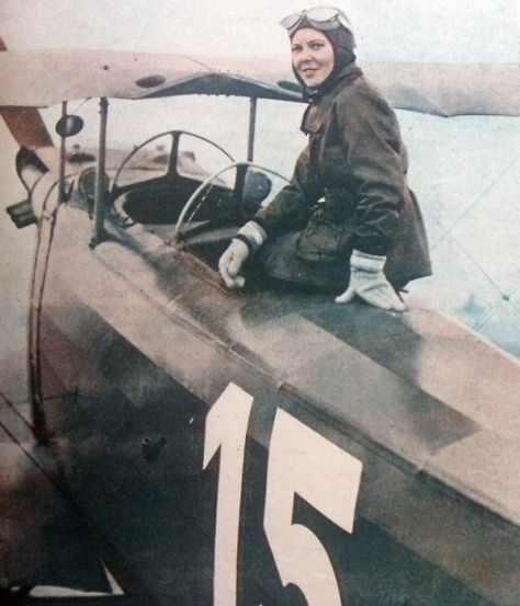 Turkish aviator Sabiha Gökçen in the plane that she used to become one of the first female fighters pilot in 1937. History in Pictures.