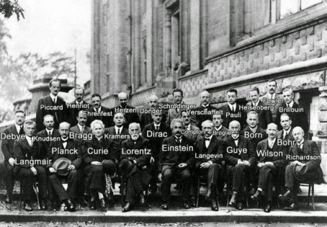 A generation of scientists at the Solvay Conference, 1927. Historical Pics.