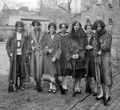 Drexel Institute Girls' Rifle Team, 1925. Historical Pics.