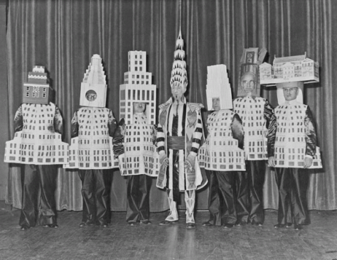 Famous architects dressed as their buildings at the Society of Beaux-Arts Architects annual ball, New York, 1931. Historical Pics.