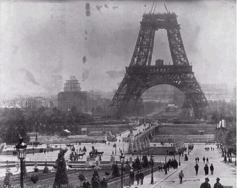 Eiffel Tower under construction in July 1888. Historical Pics.