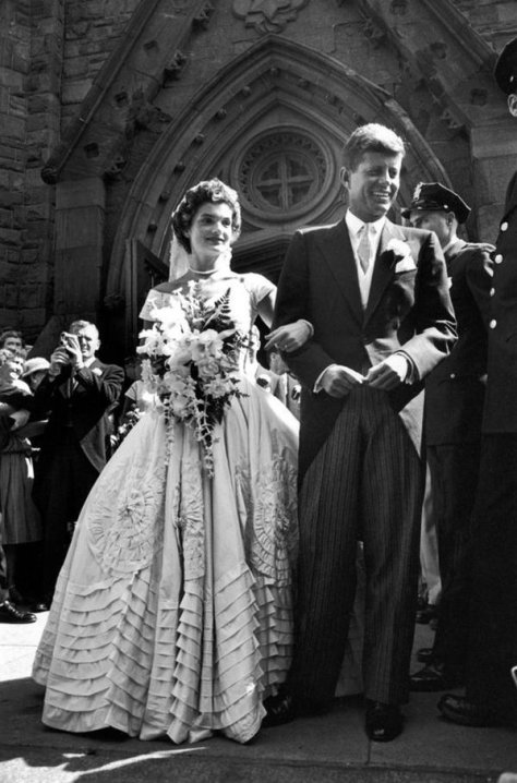 John F Kennedy and Jackie on their wedding day, 1953. Classic Pics.