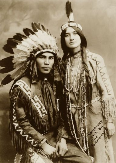 A very handsome Native American couple, Situwuka and Katkwachsnea, 1912. Photograph by Louis Situwuka Shotridge. History in Pictures.