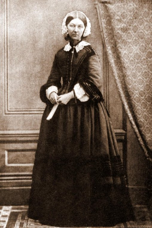 Florence Nightingale, also known as The Lady with the Lamp, circa 1858. History in Pictures.