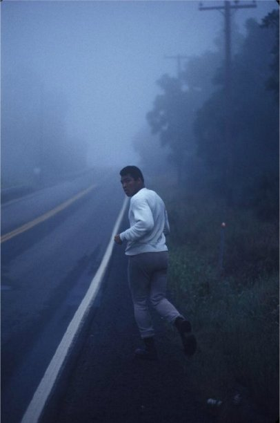 Muhammad Ali Training. Photograph by Ken Regan, 1974. Historical Pics.