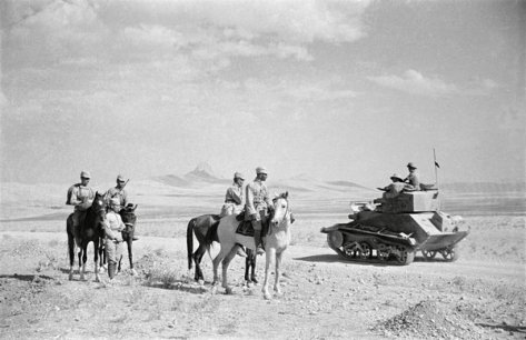 Soviet and British soldiers rendezvous near Qazvin during the 1941 Anglo-Soviet invasion of Iran. Historical Pics.