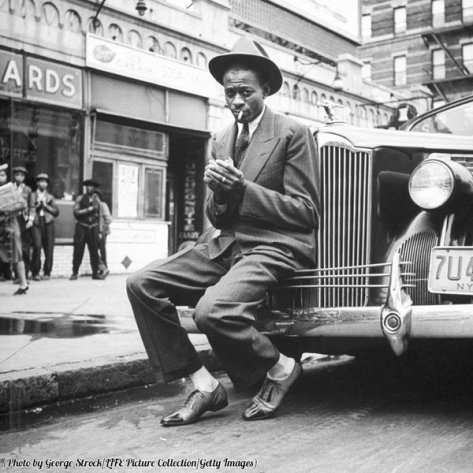 Baseball player Satchel Paige, looking dapper, Harlem, 1941. Classic Pics.