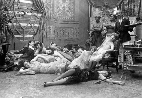 French Opium party, 1918. Historical Pics.