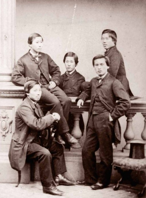 The Chōshū Five, 1863. They studied at University College London when it was still illegal to leave Japan. History in Pictures.