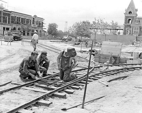 Disneyland construction. Historical Pics.