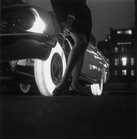 Goodyear's illuminated tires. Developed in 1961 but never went into production. Historical Pics.