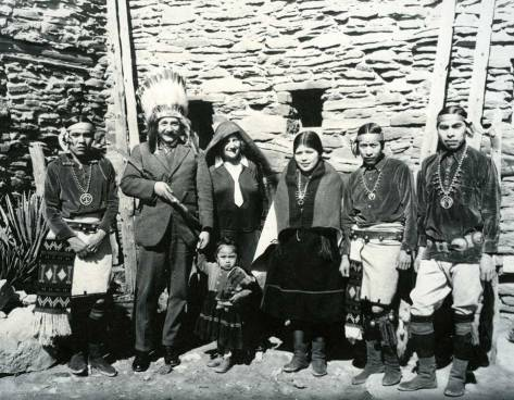 Albert Einstein with a group of Hopi Indians, 1922. Old Pics Archive.