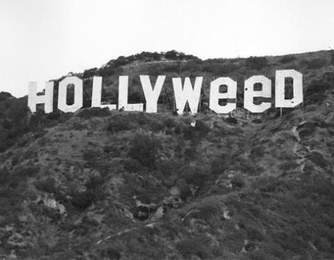 The Hollywood sign was changed by a prankster in 1976, following the passage of the state's relaxed marijuana law. Historical Pics.
