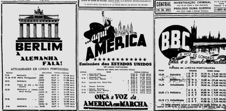 #DNmemo 2.8.1942- Transmissões em Português das estações de rádio Berlim, A Alemanha Fala,  Aqui América e BBC