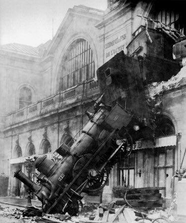 1895 Montparnasse Station Train Wreck. Classic Pics.