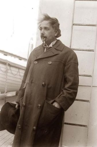 Rare photo of Albert Einstein. History in Pictures.