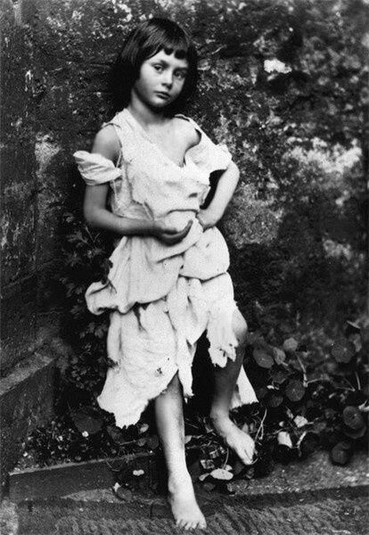Alice Liddell, the girl who inspired Alice in Wonderland, photographed by Lewis Carroll in 1858. History inPictures.