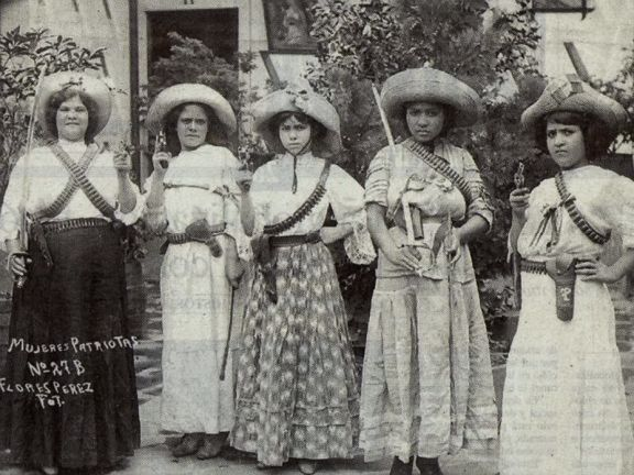 Women of Mexican Revolution. Old Pics Archive.