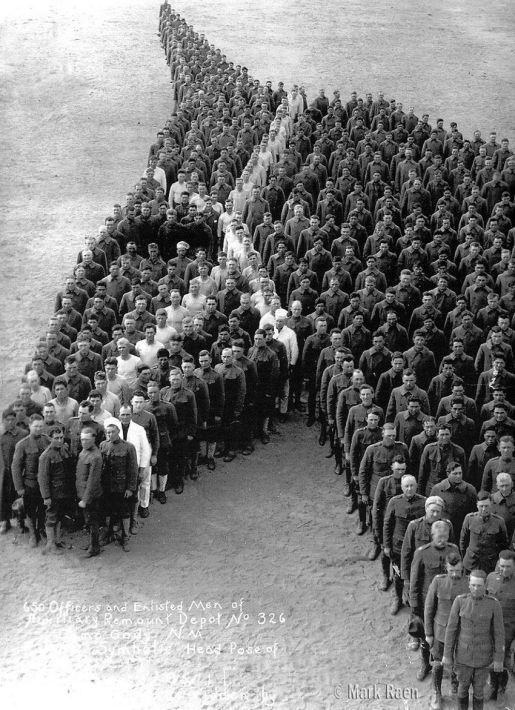 650 officers and enlisted men pay tribute to the 8 million, horses, donkeys, and mules that died during WW1. Historical Pics.