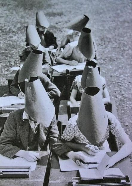 Anti-cheating hats from the 1800s. History in Pictures.
