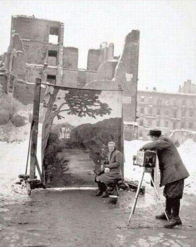Varsóvia, 1946. Fotos de fatos.